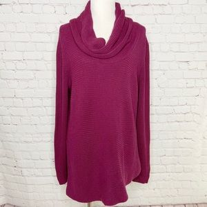 Vince Camuto Cowl Neck Asymmetrical Sweater XL
